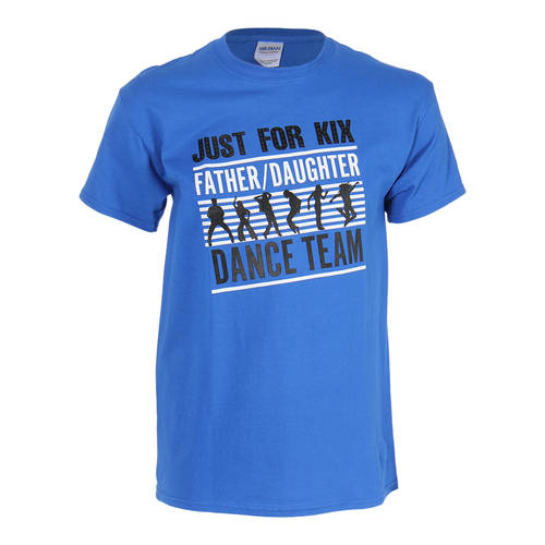 Blue Just For Kix Father Daughter Dance Team T-Shirt : t0077