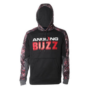 Angling Buzz Black/Red Hoodie