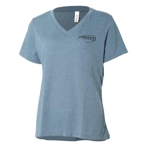 Lindner's Angling Edge V-Neck T-Shirt : LAE108