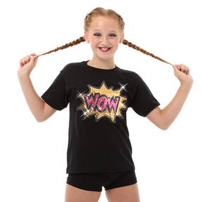 Girls Wow Sequin Tee