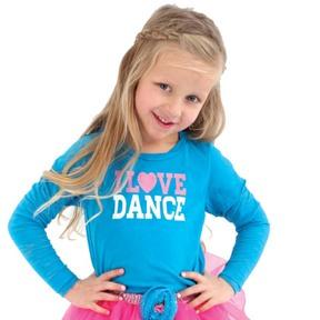 I Love Dance Long Sleeve Burnout Tee