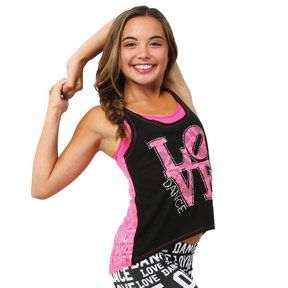 High Low Lace Dance Tank