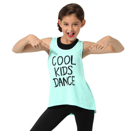 Girls Cool Kids Dance Tank : LD1109C