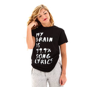 My Brain Is 99.9 Percent Song Lyrics T-Shirt