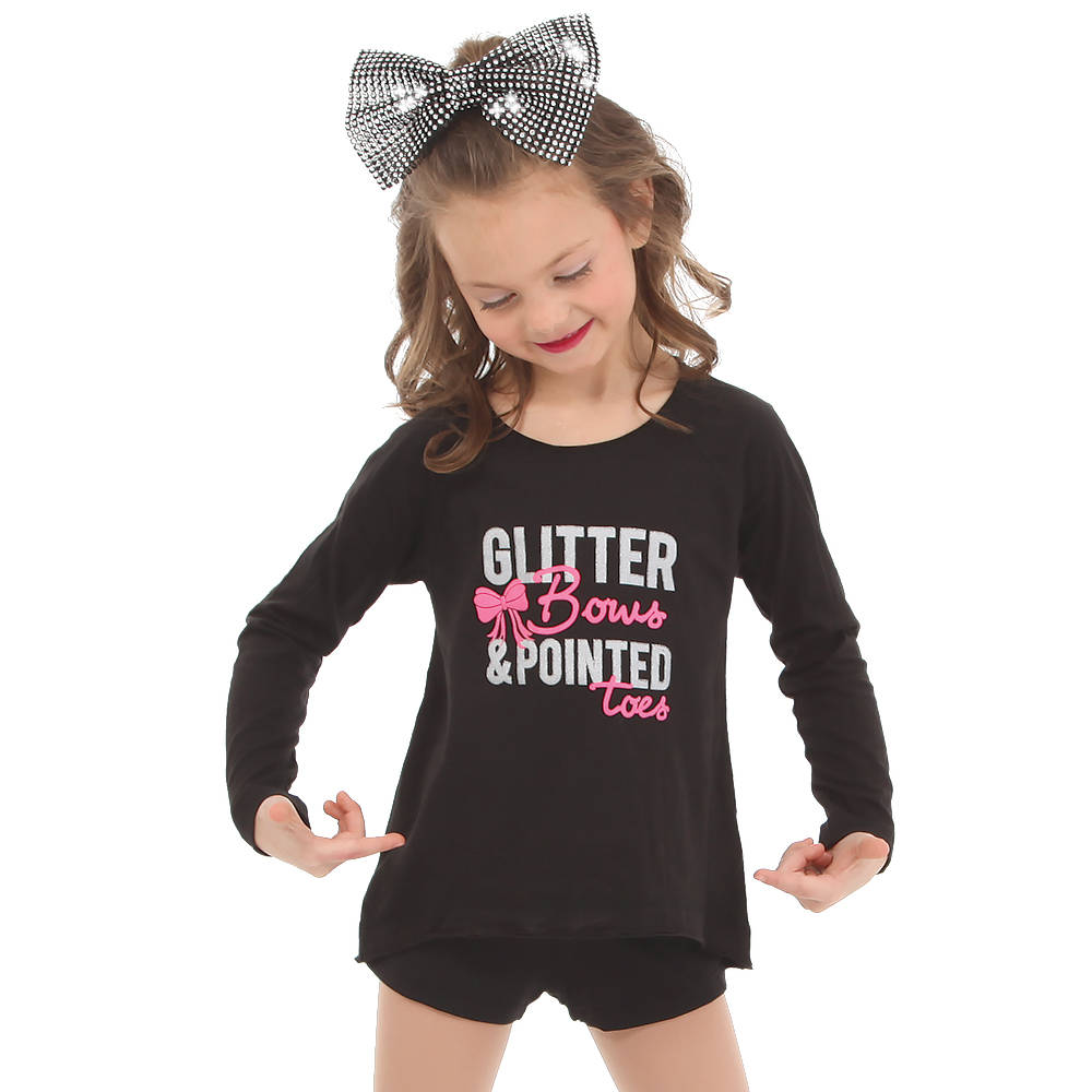 0906b6c9b Youth Glitter Bows and Pointed Toes   LD1199