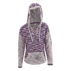 Purple Love Dance Beach Hoodie