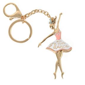 Pink Ballerina Keychain