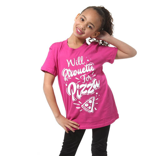 Will Pirouette For Pizza Tee : LD1283