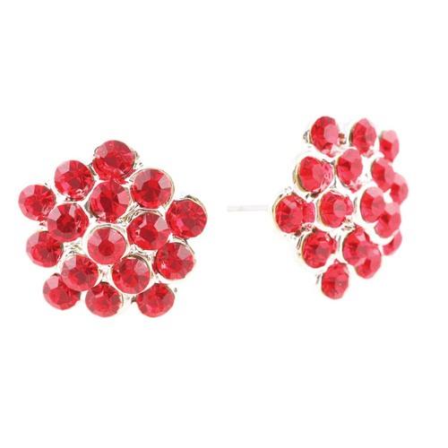 Go Girl Cluster Button Earring : GG-17