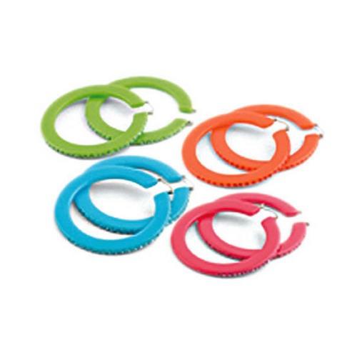 Polished Lucite Hoop Earings : GG-23