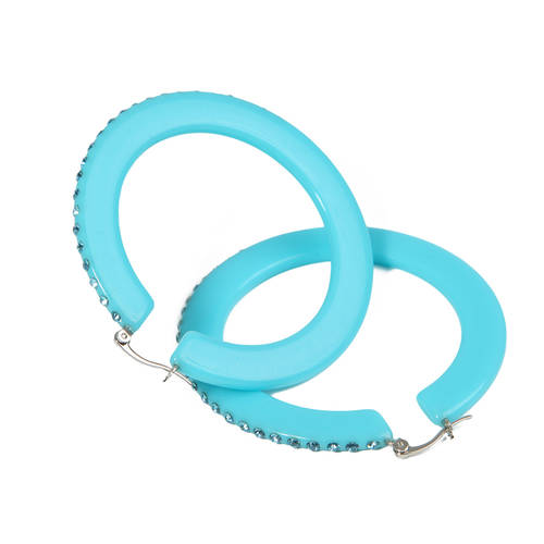 Polished Lucite Hoop Earings : GG-23