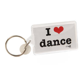I Heart Dance Keychain