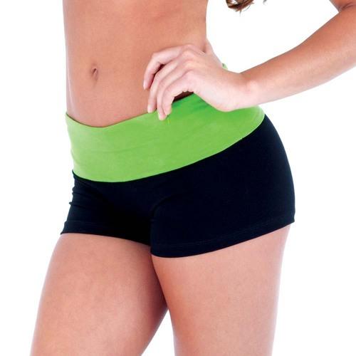 Fold Over Yoga Short : S3027