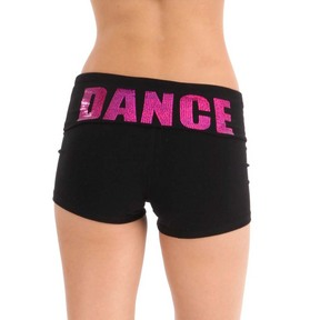 Foldover Sequin Yoga Shorts