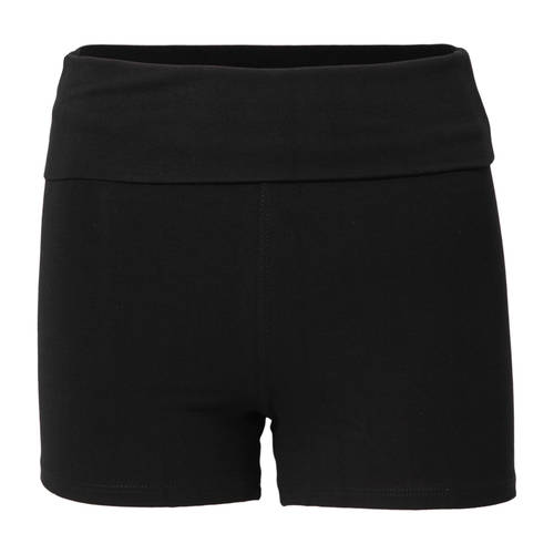Foldover Sequin Yoga Shorts : S3027SEQ