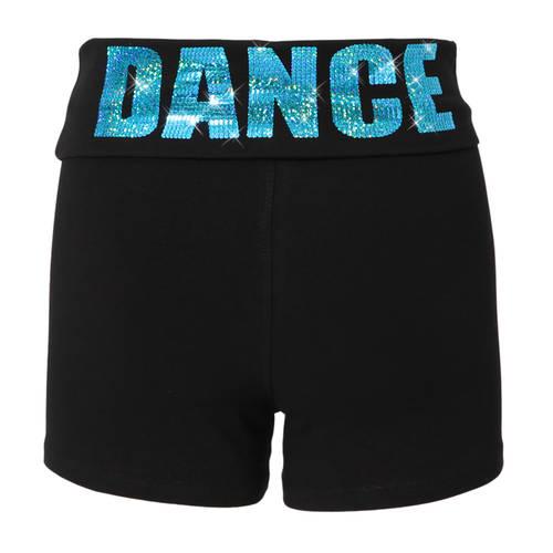Foldover Sequin Yoga Shorts : S3027SEQ