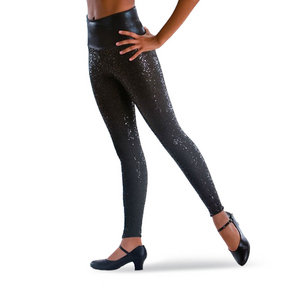 Sequin High Waist Ankle Pants