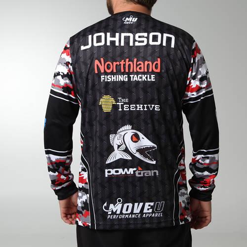MOVE U Finder Custom Long Sleeve Fishing Jersey : FS1053