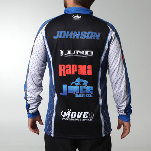MOVE U Diamond Plate Custom Long Sleeve Fishing Quarter Zip : FS1080
