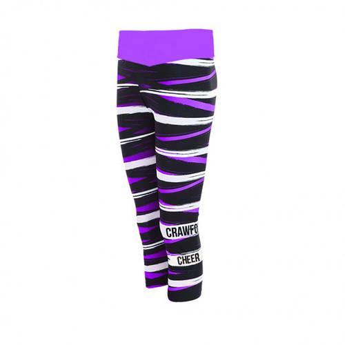 MOVE U Trek Capri Custom Mid-Rise Cheer Leggings : GP030