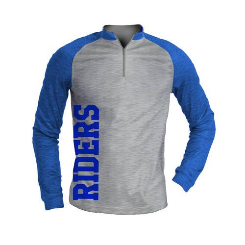 MOVE U Pride Custom Mens Cheer Quarter Zip Shirt : GP035