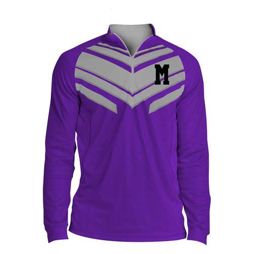 MOVE U Hazard Custom Mens Cheer Quarter Zip Shirt : GP036
