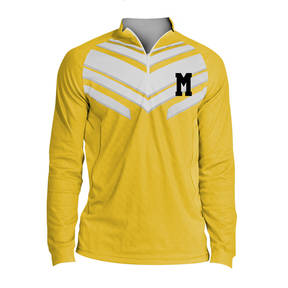 MOVE U Hazard Custom Mens Cheer Quarter Zip Shirt