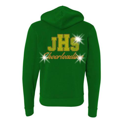 MoveU Unisex Full Zip Hooded Cheer Sweatshirt : GP048