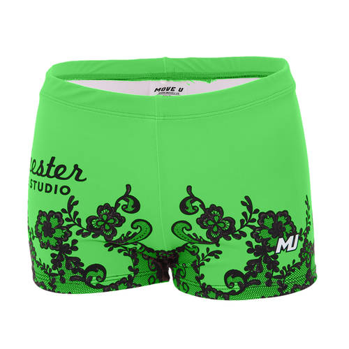 MOVE U Lace Custom Booty Shorts : GP1041