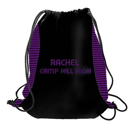 MOVE U Tipped Custom Dye Sub Cinch Sack : GP1203