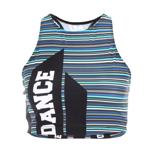 MOVE U Stripes Custom Dance Crop Top : GP210