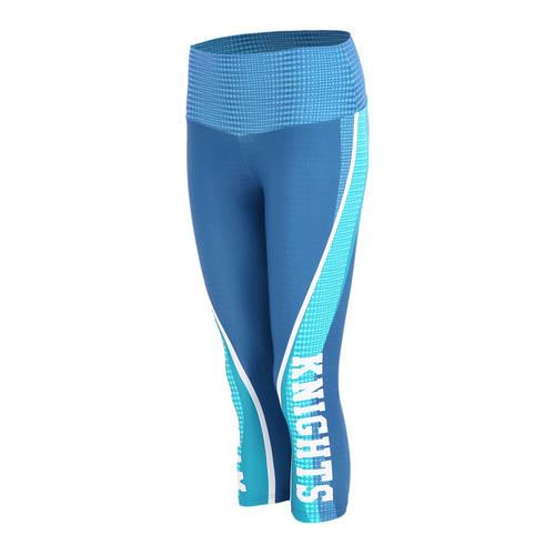 MOVE U Color Block Custom Mid-Rise Capri Dance Leggings : GP216