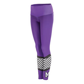 MOVE U Zag Custom Mid-Rise Cheer Leggings