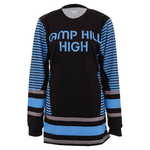MOVE U Tipped Custom Long Sleeve Cheer Team Jersey : GP808