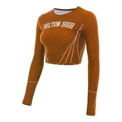 MOVE U Smooth Custom Long Sleeve Dance Crop Top : GP836