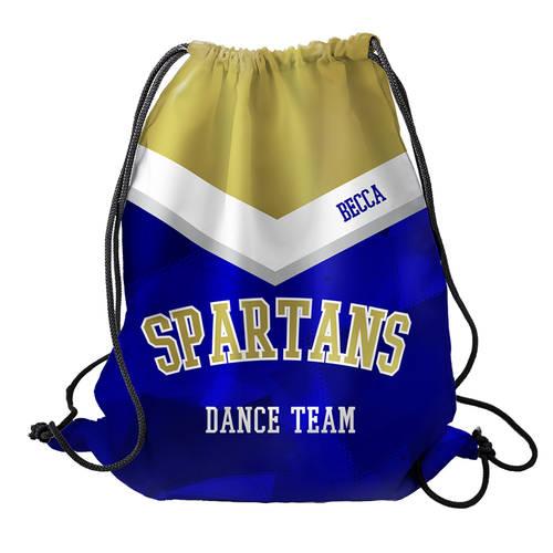 MOVE U Spartan Custom Dance Team Cinch Sack : GP936