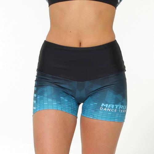MOVE U Matrix Custom Mid-Rise Dance Team Shorts : GP945