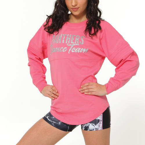 MOVE U Panthers Custom Glitter Dance Team Spirit Jersey : GP950