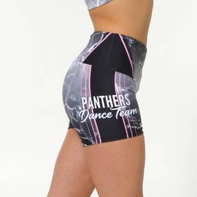 MOVE U Panthers Custom Mid-Rise Dance Team Shorts