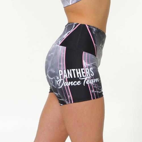 MOVE U Panthers Custom Mid-Rise Dance Team Shorts : GP955