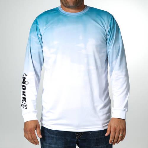 MOVE U Reflection Long Sleeve Fishing Jersey : MF1002