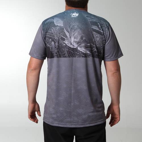 MOVE U Grey Dive Short Sleeve Fishing Jersey : MF1008