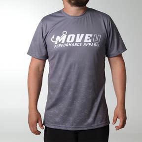 MOVE U Grey Dive Short Sleeve Fishing Jersey