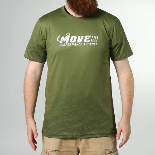 MOVE U Dive Olive Short Sleeve Fishing Jersey : MF1014