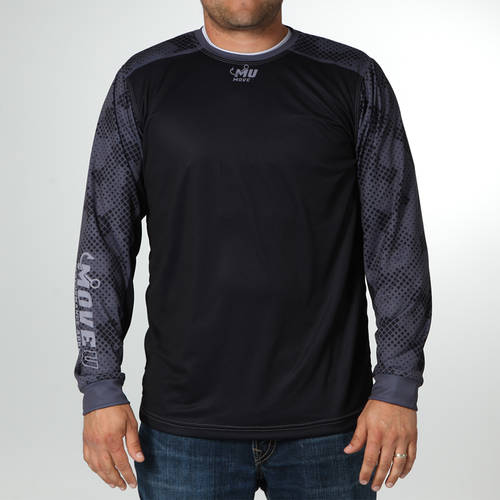 MOVE U Blackout Long Sleeve Fishing Jersey : MF1025