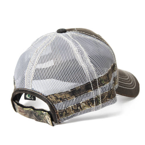 Brown Frayed Camo Fishing Hat : MF2001