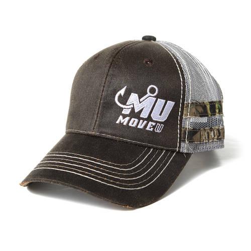 Brown Frayed Camo Fishing Hat : MF2001
