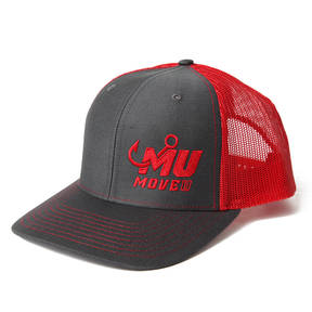 MoveU Charcoal/Red Fishing Hat