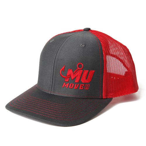 MoveU Charcoal/Red Fishing Hat : MF2003