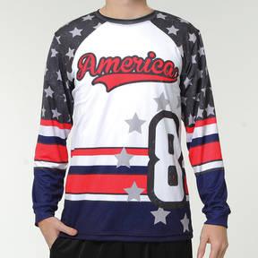 MOVE U American Custom Long Sleeve Softball Team Jersey